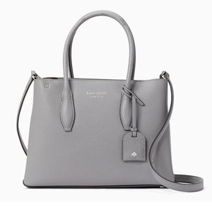 KATE SPADE Outlet Small Zip Top Satchel Gray